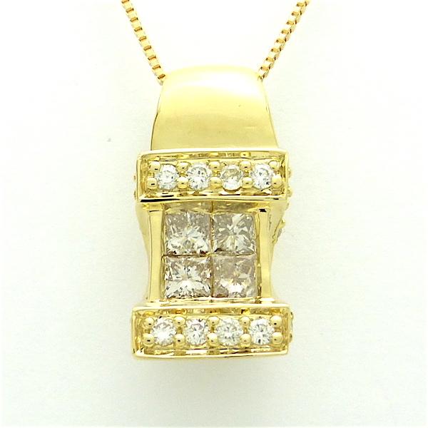 ダイヤモンド0.55 K18YG ペンダント