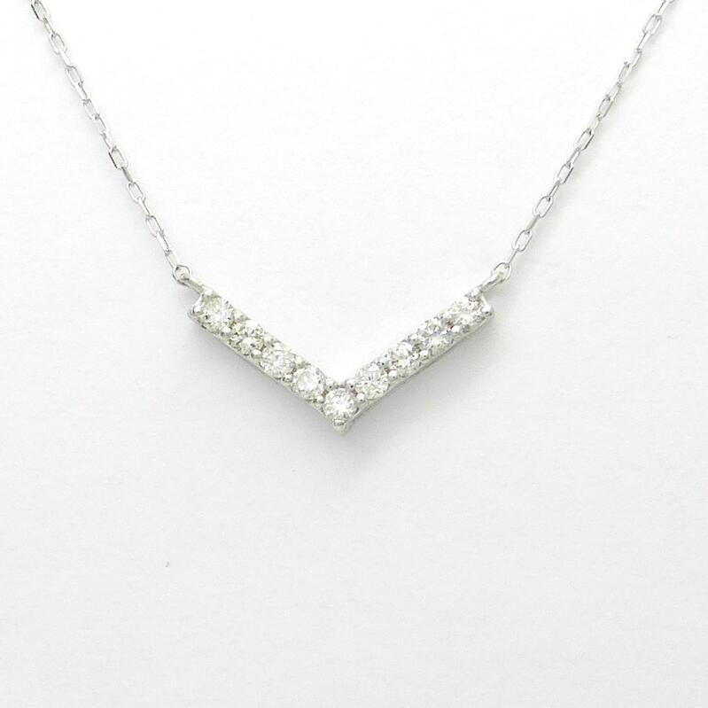 ダイヤモンド ネックレス K18 WG / YG ダイヤモンド合計0.100ct