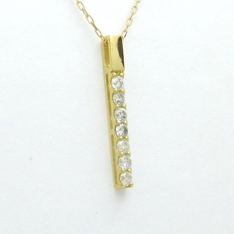 ダイヤモンド ネックレス K18YG ダイヤモンド合計0.100ct