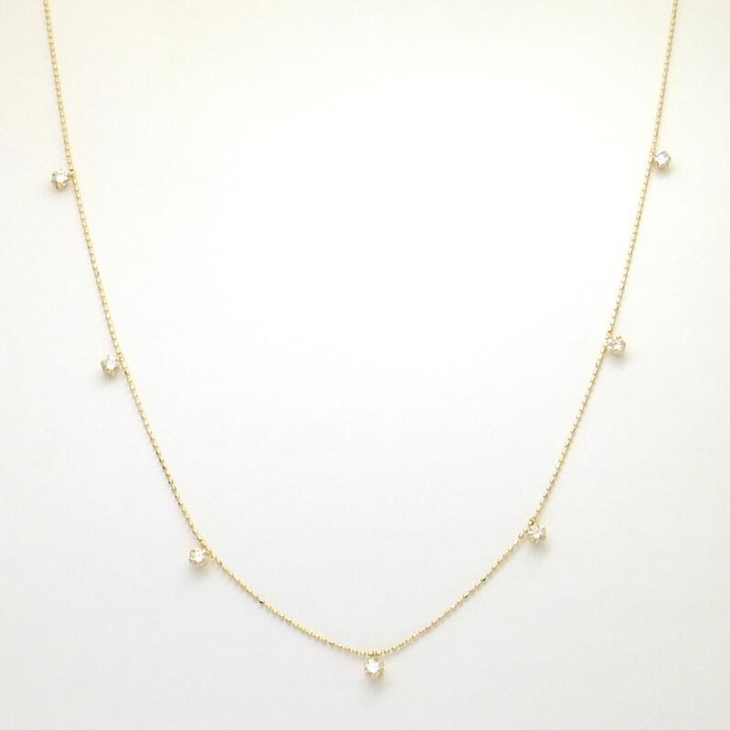 ダイヤモンド ネックレス K18YG ダイヤモンド合計0.500ct