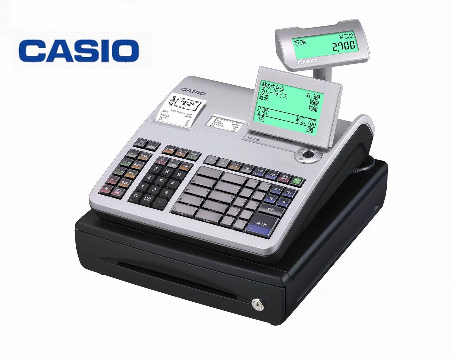 カシオ 電子レジスター TE-2700-20S-SR [CASIO TE-2700-20S]