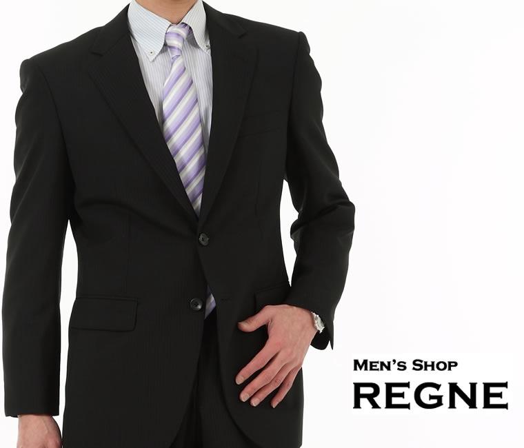 スペアーパンツ付・スーツ ランキング 評価 口コミ 上位 【送料無料】シングル スーツ 2ボタン ブラック 上下セットsuit