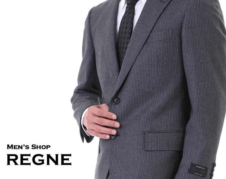 値下げ 高級スーツ<伊)マルゾット MARZOTTO>グレー縞 【送料無料】シングル スーツ 2ボタン 細身 秋冬 スリムスーツ グレー 上下セット毛100% Suit 05P03Dec16