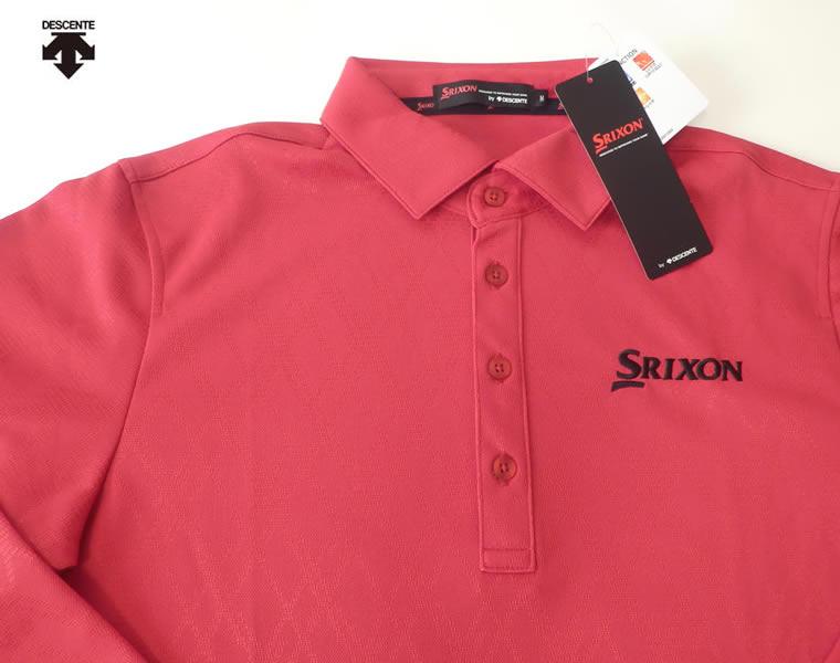 スリクソン<SRIXON>ストレッチ 長袖ポロシャツ2 レッド デサント ランキング 評価 口コミ 上位 プレゼント 贈り物