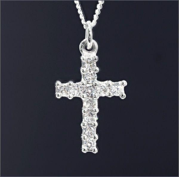 CZダイヤモンド ネックレス ジルコニアネックレス クロス 十字架 メンズネックレス レディースネックレス レディースアクセサリー プレゼント CZ アクセサリー メンズ ss ダイヤモンドに匹敵する輝きがここに キュービックジルコニア 激安通販 ダイヤモンド ユニセックス 新品 レディース ジルコニア