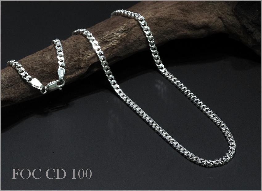 SV925 喜平チェーンネックレス 3.10mm 50cm No.FOC CD 100