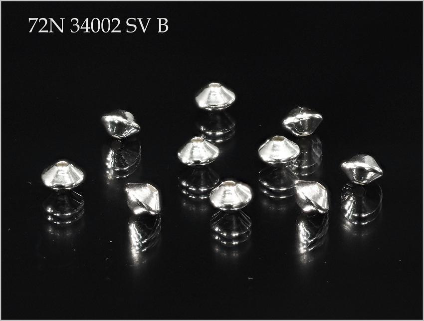 シルバー パーツ SV925 ネックレス ハンドメイド 部品 ビーズ ソロバン アクセサリー 10個 2.0mm 0.8mm 店舗 B 34002 OUTLET SALE No.72N 3.5mm SV 穴径 まとめ売り