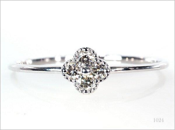 ダイヤモンドリング 18KWG 18金 リング 指輪 レディースリング ダイヤモンド NO.1024 R ss
