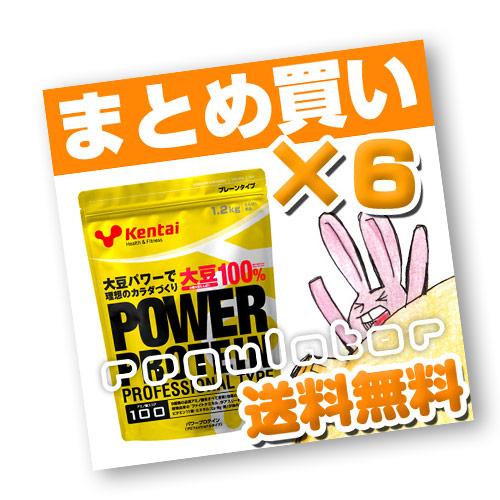 (まとめ買い)【Kentai】パワープロテイン プロフェッショナルタイプ 1.2kg×6 (送料無料)【ケンタイ・健康体力研究所】