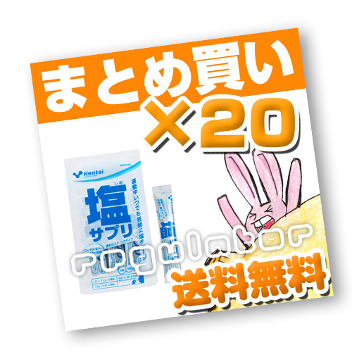 (まとめ買い)【Kentai】塩サプリ グレープフルーツ風味×20 (送料無料)【ケンタイ・健康体力研究所】