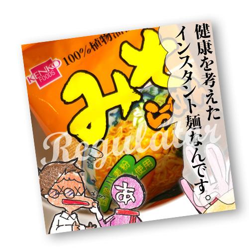 国産小麦粉100% 植物油100%の無かんすい麺 贈呈 ツイデガイ 健食系インスタントラーメン みそらーめん 健康フーズ 100g 1食 定番から日本未入荷