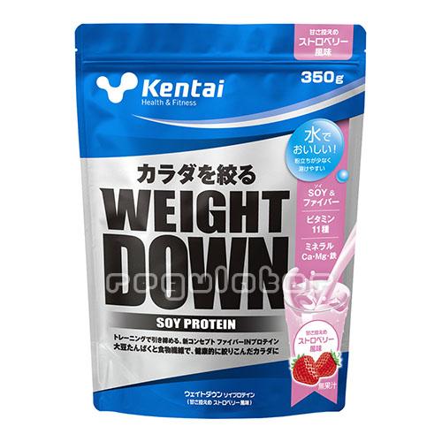(まとめ買い)【Kentai】ウェイトダウン ソイプロテイン ストロベリー風味 350g×12(送料無料)【ケンタイ・健康体力研究所】