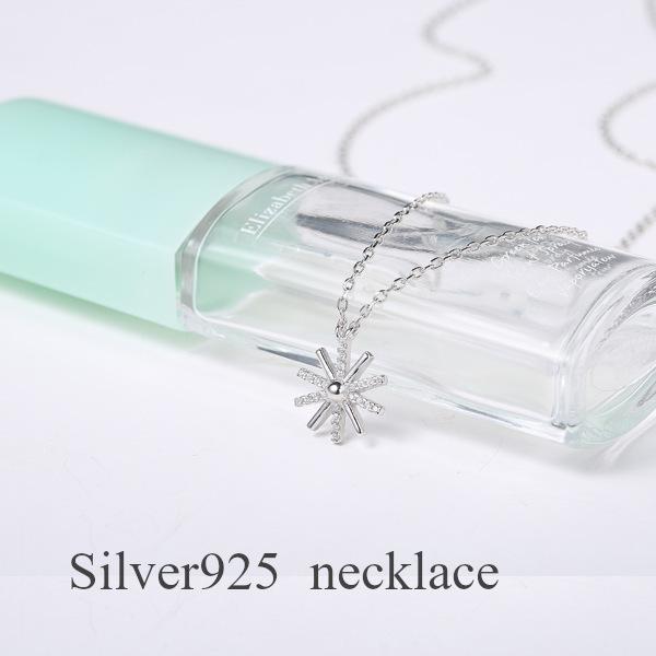 Silver925 送料無料 限定価格セール ネックレス レディース シルバー CZダイヤモンド ジルコニア S925 プレゼント 花 ブランド 出色