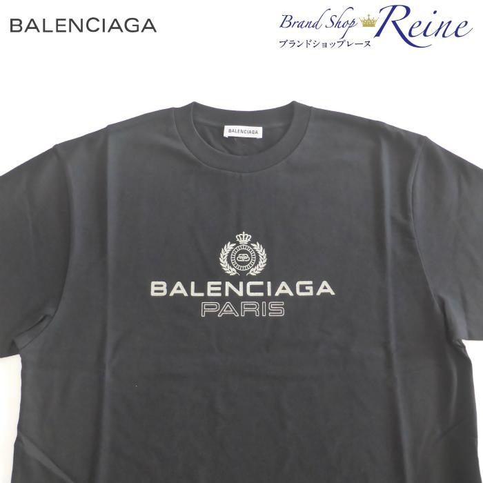 バレンシアガ (BALENCIAGA) BB パリ ロゴ プリント レギュラーフィットTシャツ 594599 Sサイズ【新品】
