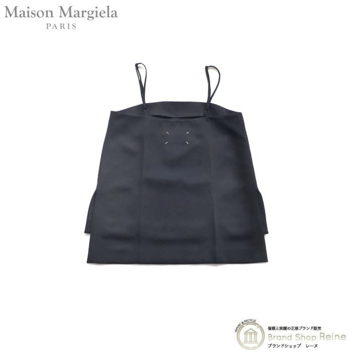 正規ブランド品 限定モデル 当店なら安心でお値段も格安 メゾン マルジェラ Maison Margiela サイドスリット 無料サンプルOK キャミ 新品 ブラック トップス S51NC0576 #40