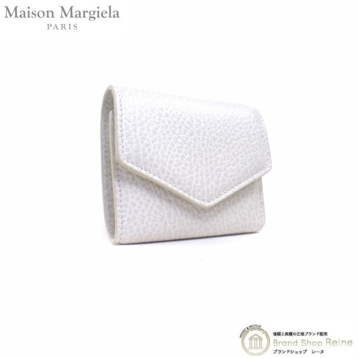 正規ブランド品 当店なら安心でお値段も格安 メゾン マルジェラ Maison Margiela エンベロープ S56UI0136 アイボリー コンパクト 新品 豊富な品 三つ折り レザー 本店 財布