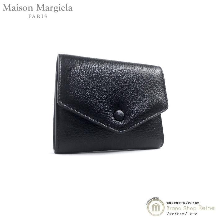 正規ブランド品 当店なら安心でお値段も格安 メゾン マルジェラ Maison Margiela エンベロープ 2020秋冬新作 コンパクト 財布 S56UI0136 超歓迎された 三つ折り レザー ブラック 新品