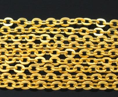 アクセサリー用チェーン10メートル入業務パックakusesari- 激安挑戦中 B05599 アクセサリー用チェーン10M巻 アウトレット ゴールドカラー メタルネックレスチェーンハンドメイドDIYアクセサリー製作にまとめ買い用