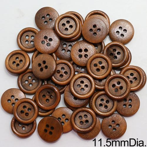 ソーイングハンドメイド用ボタン SH040926 商舗 13p 取寄品 ウッドボタン木製ボタン 送料無料でお届けします サイズ11.5mm 約1000個入クラフトボタン
