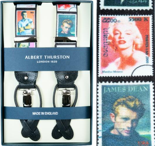 ALBERT THURSTON アルバートサーストン サスペンダー Y型 Famous Iconsプリント柄 サーストン ブランド ブレイシーズ 英国製 2464-A004【送料無料】
