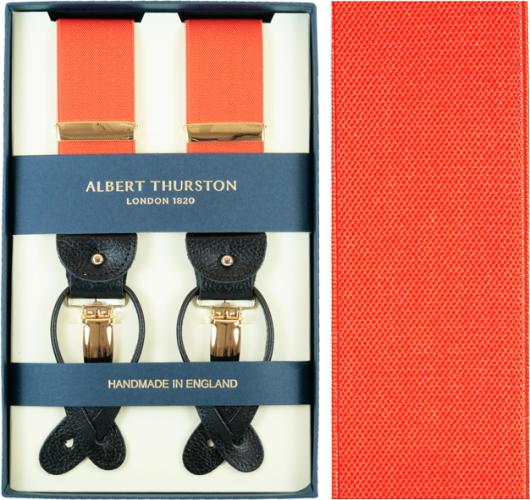 ALBERT THURSTON アルバートサーストン サスペンダー メンズ Y型 2WAY オレンジ 【英国製】 サーストン ブランド アルバート・サーストン Orange【送料無料】