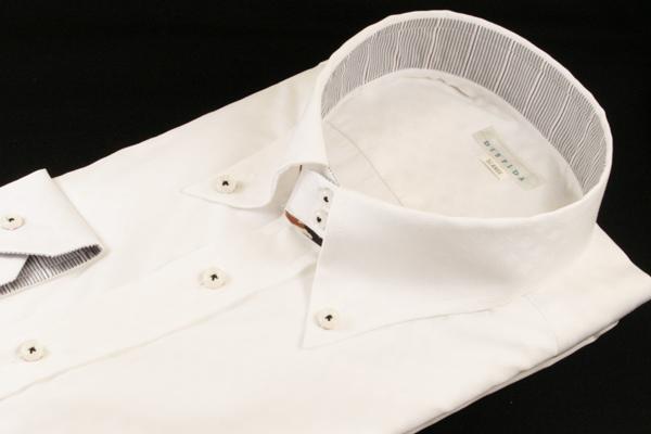 ドレスシャツ | メンズ 4L 5L 大きいサイズ DISFIDA ブランド ドゥエボットーニ ボタンダウン ボタンダウンカラー シャツ 長袖 白 ホワイト 日本製 綿 綿100 ワイシャツ Yシャツ 47 49 ノータイ ノーネクタイ ビジネス 男性 おしゃれ おすすめ コーデ 通販 送料無料 41231-1
