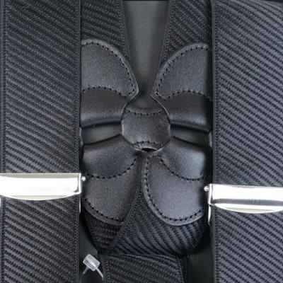 サスペンダー メンズ | Taniwatari タニワタリ ブランド 日本製 ホルスター ホルスター型 サイド吊り ガンタイプ 2点留め 黒 ブラック 斜めストライプ織柄 35mm スーツ パンツ スラックス 着こなし 金具 クリップ 取り付け方 ズボン吊り 送料無料 S4466-1