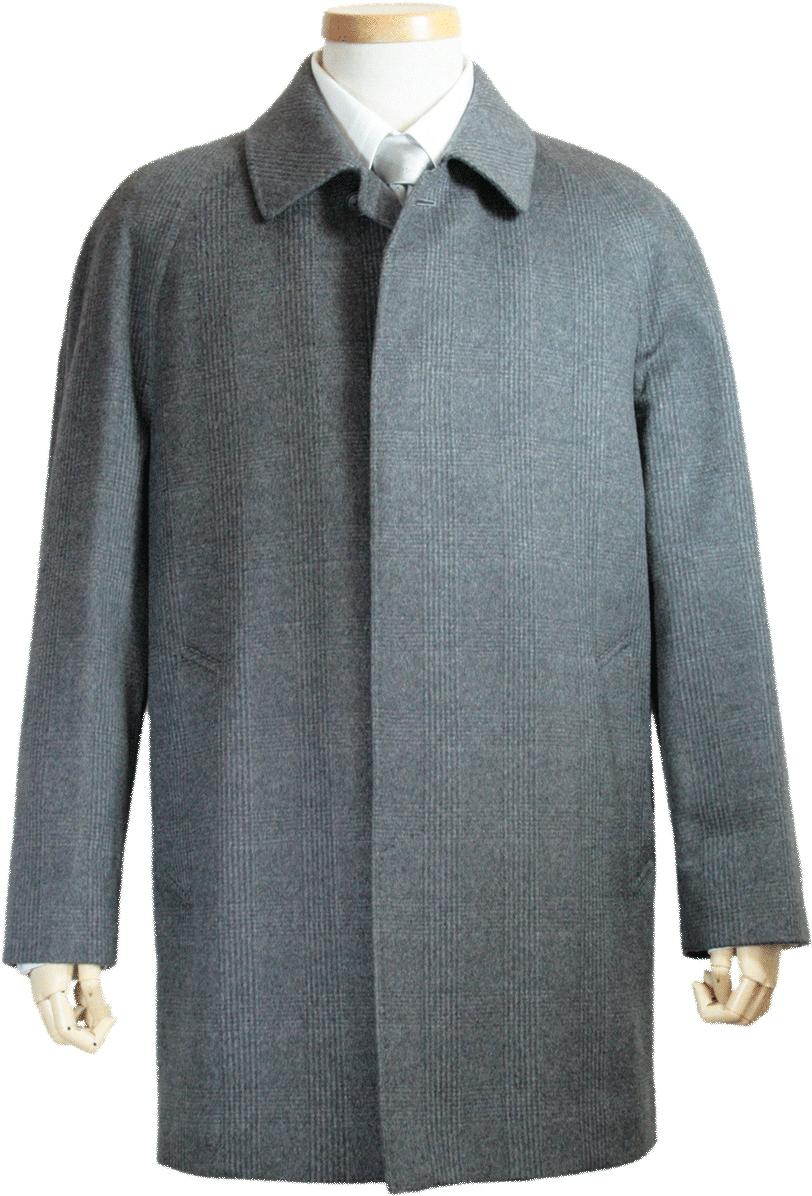Colombo カシミヤコート メンズ シングル ハーフコート ステンカラー コロンボ カシミヤ100 グレンチェック グレー ミディアムグレー カシミヤ カシミア ハーフ コート ビジネス ビジネスコート 男性 冬 冬物 冬用 暖かい チャコールグレー 100%カシミヤ 送料無料 7242