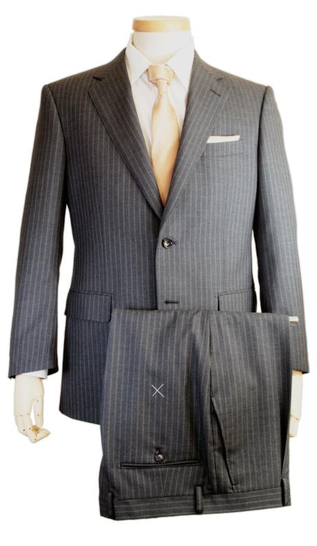 スーツ | メンズ ビジネススーツ メンズスーツ スタンダード レギュラー シングル 2ボタン ワンタック ストライプ ダークグレー グレー 春 春夏 紳士 男性 40代 50代 ベーシック 着こなし コーデ おしゃれ おすすめ 送料無料 141286-43