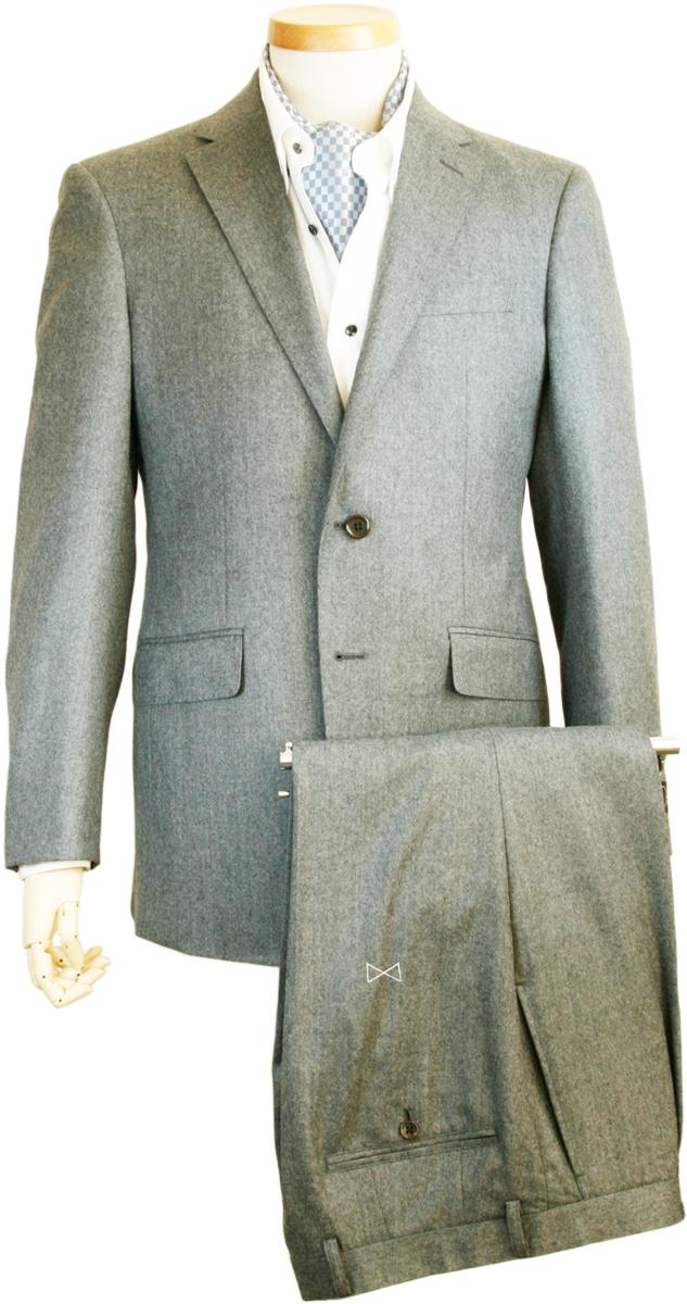 スーツ   メンズ カノニコ CANONICO イタリア製生地 ウール カシミヤ ビジネススーツ メンズスーツ スタンダード レギュラー シングル 2ボタン ワンタック グレー ミディアムグレー 秋冬 紳士 男性 40代 50代 ベーシック 着こなし おしゃれ おすすめ 送料無料 W1111-2