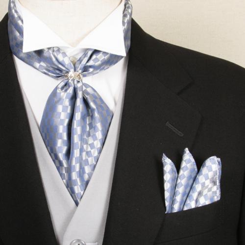 ストール ポケットチーフ スカーフリング セット ブルー フォーマル メンズ 男性用 結婚式 披露宴 新郎 タキシード お色直し 二次会 パーティ アスコット スカーフ 礼装 衣裳 衣装 着こなし コーデ 通販 CD407-SD4007-RG-BLUE