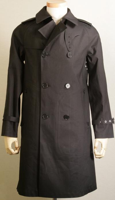橡胶的棉 ☆ 风衣雨衣 ☆ ☆ Macintosh 跨-朗福德-id04black38 测量