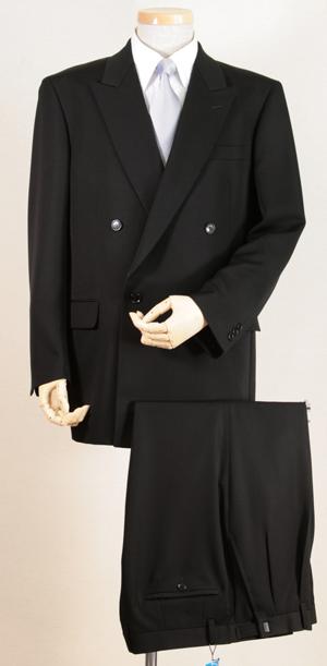供作為雙正式禮服超黑日本製造布料使用的雙正式西服4按鈕的☆全部季節對應☆生活防水加工☆褶安排加工3368BB5正式FORMAL人Men's男性使用的西服