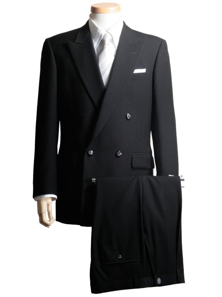 A8 AB8 BB8 フォーマルスーツ メンズ 礼服 大きいサイズ 黒 ブラック ピークラペル 4ボタン ブラックフォーマル 濃染 超黒 日本製生地 本台場 スリーシーズン対応 紳士 男 男性用 葬式 結婚式 R6061 送料無料