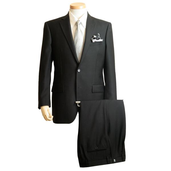 フォーマルスーツ メンズ   ブラックスーツ 礼服 ウール100 ブラックフォーマル シングル2ボタン ワンタック オールシーズン フォーマル ブラック 黒 スーツ 結婚式 葬式 卒業式 入学式 喪服 パーティー セレモニー コーデ 着こなし 通販 送料無料 k192-0