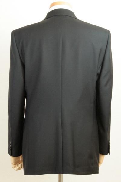 fe2032f593b49 ... フォーマルスーツメンズブラックスーツ礼服ウール100ブラックフォーマルシングル2ボタンワンタックオールシーズン ...