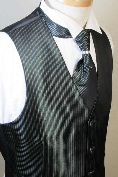 フォーマルベスト&アスコットタイセット(スカーフリング付) メンズ フォーマル ベスト セット アスコット リング チョッキ ジレ ウエストコート 結婚式 衣装 着こなし コーデ VEST VE42-AS42【送料無料】【日本製】