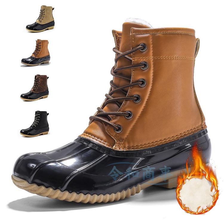 スノーシューズ メンズ スノーブーツ 雪靴 ワークブーツ ウォーキング 靴 秋冬 ブーツ 革靴 購入 正規品