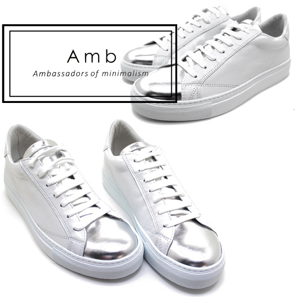 AMB Ambassadors of minimalism and ambasadersobuminima rhythm 9838 leather race up sneaker