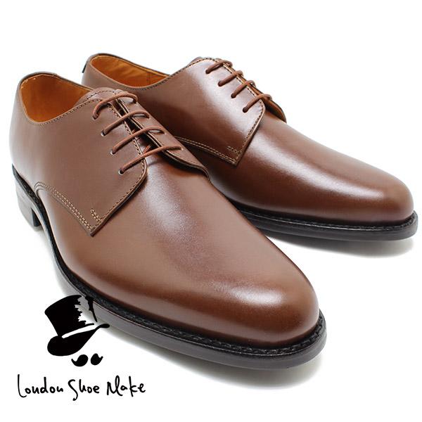 London Shoe Make 317 グッドイヤー製法外羽根プレーントゥ ブラウン ダイナイトソール ビジネスシューズ ビジネス/ドレス/紐靴/革靴/仕事用/メンズ