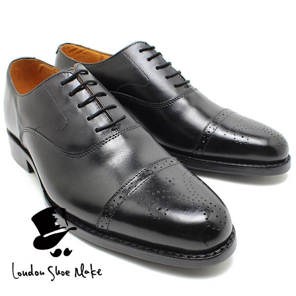 London Shoe Make 321 グッドイヤー製法セミブローグ ブラック ダイナイトソール ビジネスシューズ ビジネス/ドレス/紐靴/革靴/仕事用/メンズ