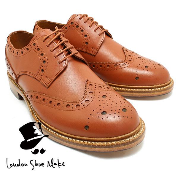 London Shoe Make 601 グッドイヤー製法ウィングチップシューズ タン カジュアルシューズ ビジネス/ドレス/紐靴/革靴/仕事用/メンズ