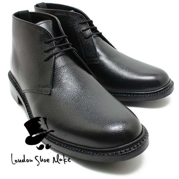 オックスフォードアンドダービー/Oxford & Derby 8016 グッドイヤーチャッカブーツ ブラック 本革ビジネスシューズ ビジネス/ドレス/紐靴/革靴/仕事用/メンズ