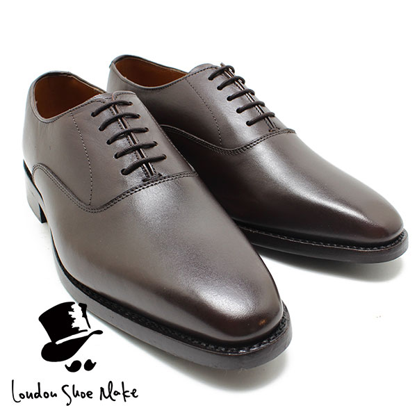 オックスフォードアンドダービー/Oxford & Derby 8026 グッドイヤーチゼルトゥ内羽根プレーントゥ ブラウン 本革ビジネスシューズ ビジネス/ドレス/紐靴/革靴/仕事用/メンズ