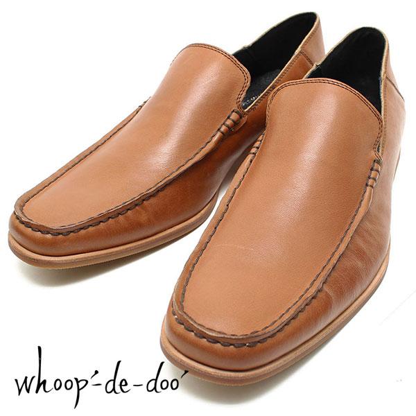 革靴// スリッポンシューズ whoop de doo// ドレス// 306753 メンズ 一枚甲革シューズ 紐靴// フープディドゥ ブラック 仕事用// ビジネス//
