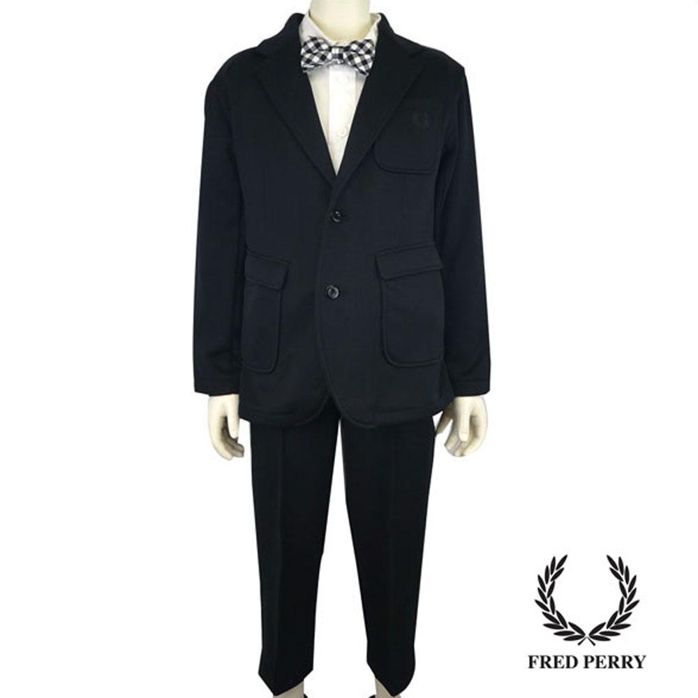 FRED PERRY (フレッドペリー)テーラードジャケット&クロップドパンツ (120cm) スーツ 入学式 卒業式 子供服 男の子 おしゃれ