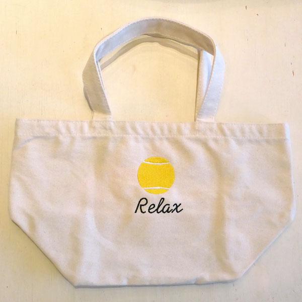 テニスボール刺繍 ランチバッグ 予約販売 オリジナル 名入れ刺繍 在庫処分 おしゃれ ギフト かわいい