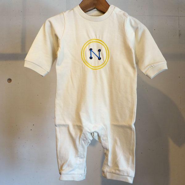キャンペーンもお見逃しなく MOMENT モーメント イニシャル刺繍 長袖ロンパース N 70 オリジナル 名入れ刺繍 ベビーギフト おしゃれ 品質検査済 かわいい