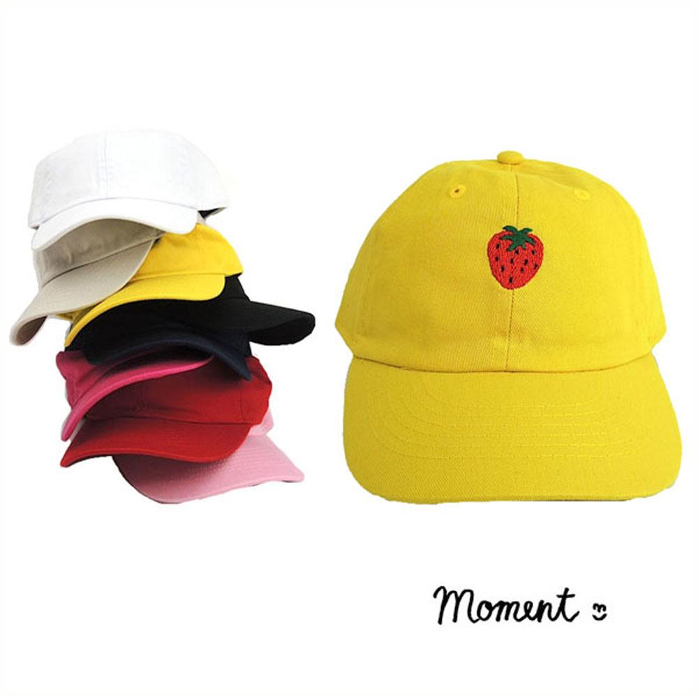 MOMENT モーメント Strawberry 毎日がバーゲンセール emb ローキャップ オリジナル刺繍 52-56 いちご 子供服 キッズ子供 かわいい 女の子 キッズ おしゃれ 公式 子供 男の子