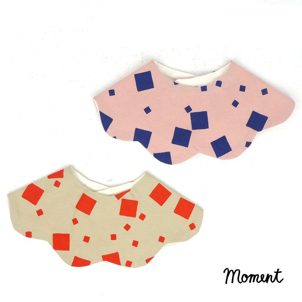 名入れ刺繍可能 MOMENT モーメント KUMO 超安い PERCUSSION FOR ベビースタイ ベビーギフト SALE開催中 ベビースタイベビーギフト出産祝い 出産祝い SQUARES
